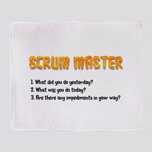 Scrum Master Sprint Questions Throw Blanket