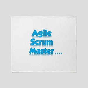 Scrum Master Blue Throw Blanket