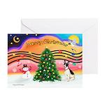 XmasMusic1/Rat Terrier 1 Greeting Cards (Pk of 20)