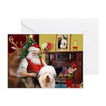 Santa's Old English #5 Greeting Cards (Pk of 10)