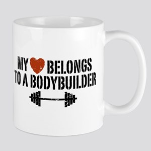 My Heart Belongs to a Bodybuilder Mug