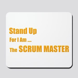 Stand for the scrum master Mousepad