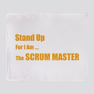 Stand for the scrum master Throw Blanket