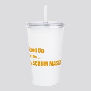 Stand for the scrum ma Acrylic Double-wall Tumbler