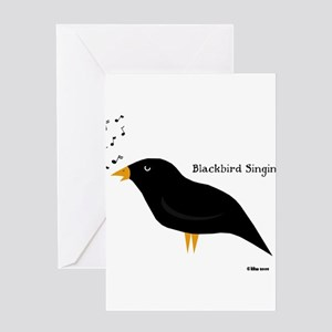 Blackbird Singin Greeting Cards