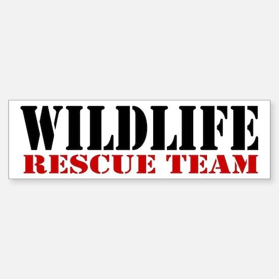 Wildlife Rescue Team Bumper Bumper Bumper Sticker