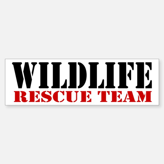 Wildlife Rescue Team Bumper Car Car Sticker