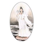 Kwan Yin Oval Sticker (10 pk)