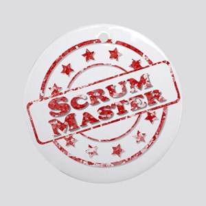 Scrum Master Stamp Round Ornament