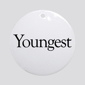 Youngest (new baby) Ornament (Round)