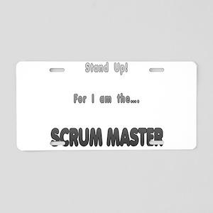 Scrum Master Aluminum License Plate
