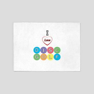I Love Disc Golf 5'x7'Area Rug