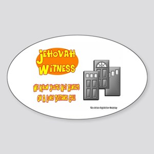 Jehovah Witness Pro Oval Sticker
