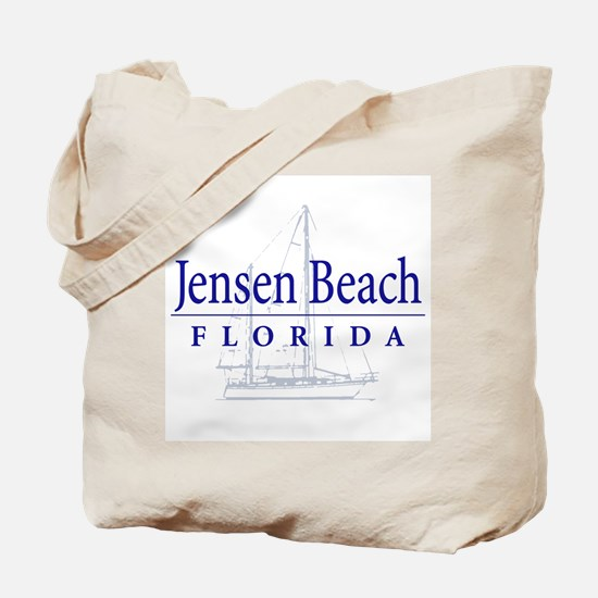 Jensen Beach Sailboat - Tote or Beach Bag