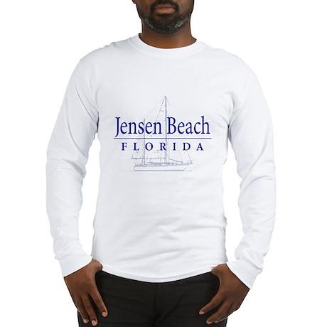 Jensen Beach Sailboat - Long Sleeve T-Shirt