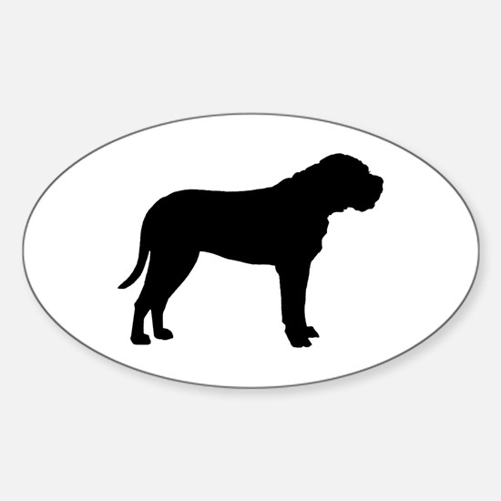 Bullmastiff Dog Breed Oval Decal