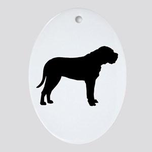 Bullmastiff Dog Breed Oval Ornament