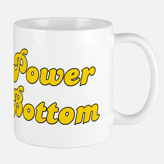 Retro Power Bottom (Gold) Mug