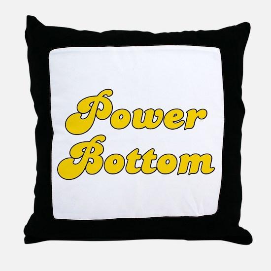 Retro Power Bottom (Gold) Throw Pillow