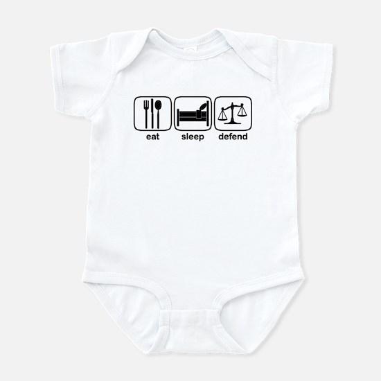 Eat Sleep Defend Infant Bodysuit
