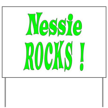 Nessie - Green Yard Sign