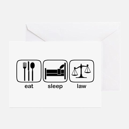 Eat Sleep Law Greeting Cards (Pk of 10)