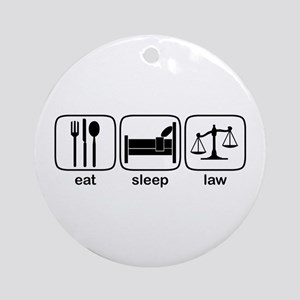 Eat Sleep Law Ornament (Round)