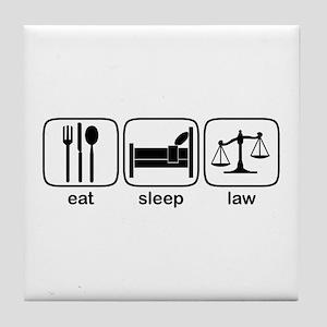 Eat Sleep Law Tile Coaster
