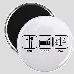 Eat Sleep Law Magnet