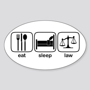 Eat Sleep Law Oval Sticker
