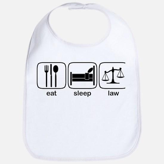 Eat Sleep Law Bib