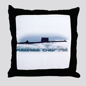 Retired Sub Vet Diesel 4 Throw Pillow