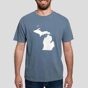 Michigan Map Women's Dark T-Shirt