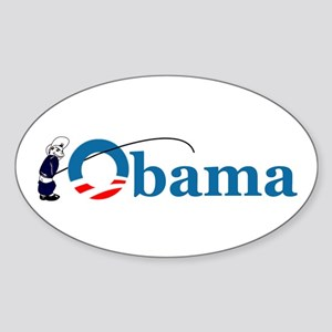 Pee on Obama Oval Sticker