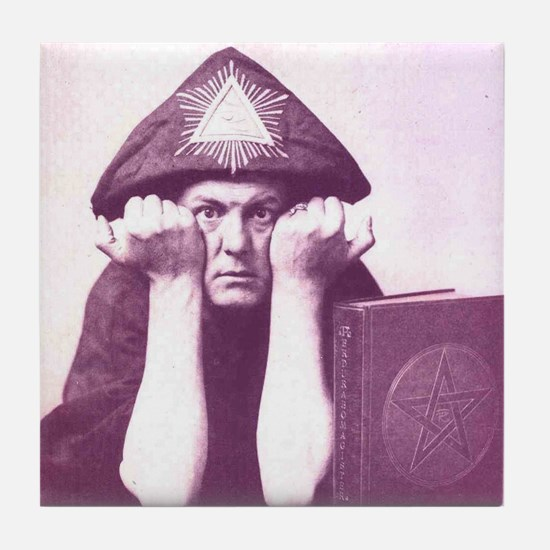 Aleister Crowley Tile Coaster