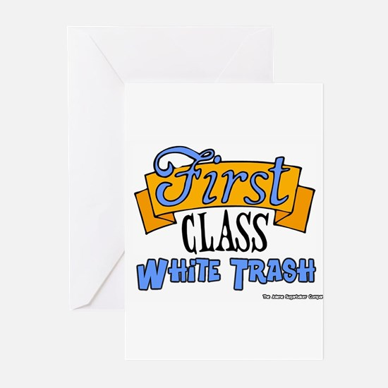 First Class White Trash Greeting Cards (Package of