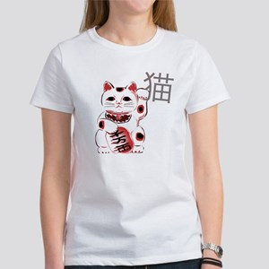 Cherry Maneki Neko Women's T-Shirt