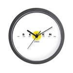Stenciled Seven Wall Clock