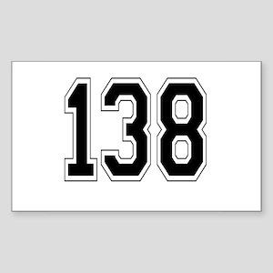 138 Rectangle Sticker