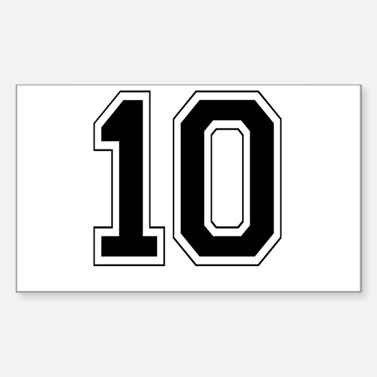 10 Rectangle Decal