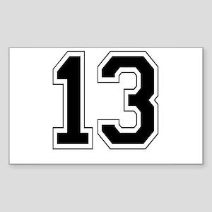 13 Rectangle Sticker