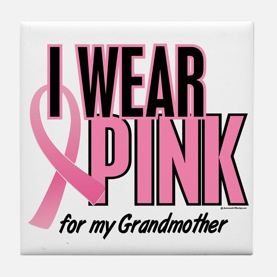 I Wear Pink For My Grandmother 10 Tile Coaster
