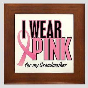 I Wear Pink For My Grandmother 10 Framed Tile