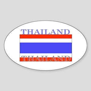 Thailand Thai Flag Oval Sticker