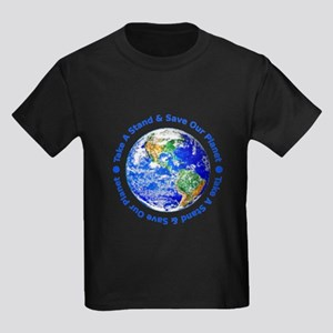 Save Our Planet! Kids Dark T-Shirt