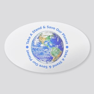 Save Our Planet! Oval Sticker