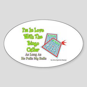 Bingo Caller Balls Oval Sticker