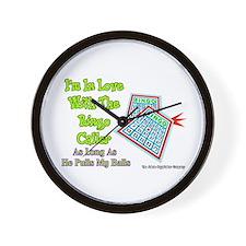 Bingo Caller Balls Wall Clock