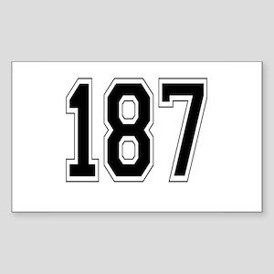 187 Rectangle Sticker