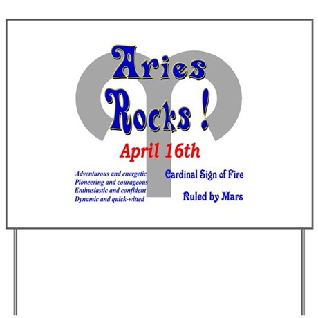 Aries April 16th Yard Sign
